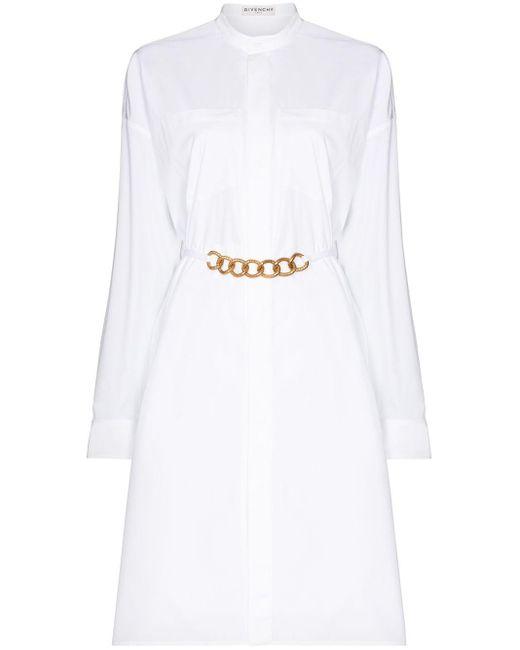 Givenchy チェーンベルト シャツドレス White