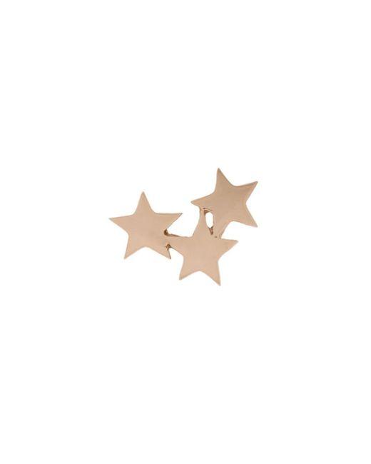Puce d'oreille Struck Triple Star en or rose 14ct Kismet by Milka en coloris Multicolor