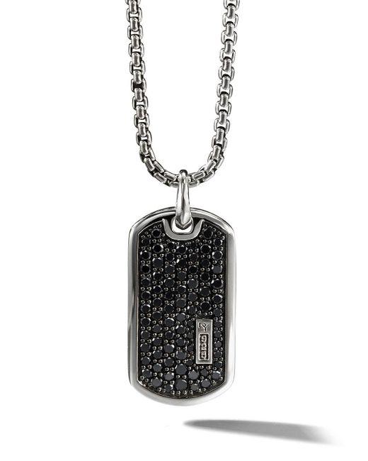 David Yurman Black Pavé Diamond Tag Enhancer for men
