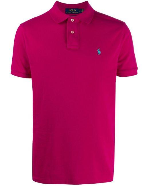 メンズ Polo Ralph Lauren ピケ ポロシャツ Pink