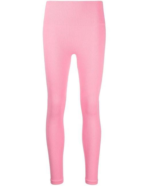 Leggings con pannello traforato di DKNY in Pink