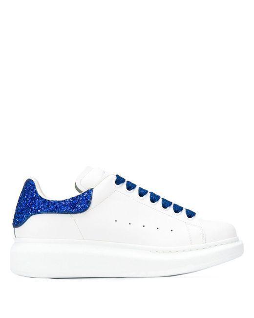 Alexander McQueen グリッター スニーカー Blue