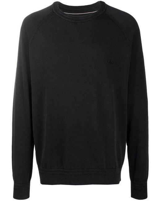 メンズ Calvin Klein ルーズフィット プルオーバー Black