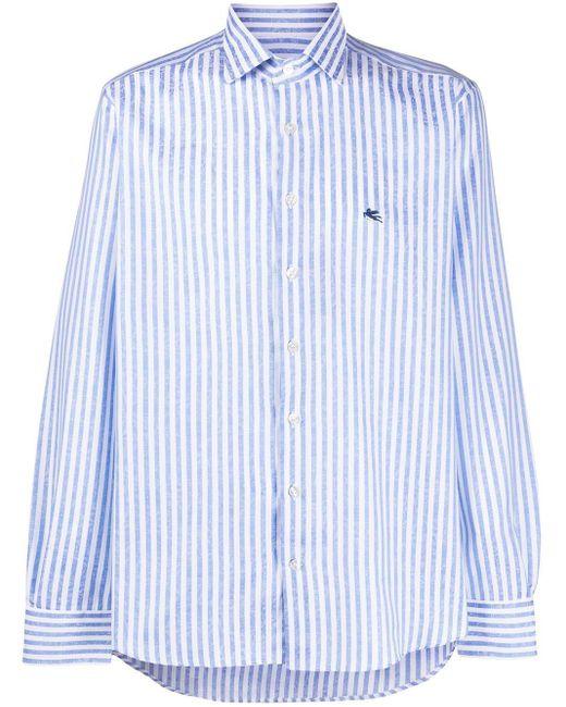 メンズ Etro ストライプ シャツ Blue