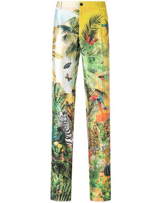 メンズ Dolce & Gabbana プリント パンツ Green