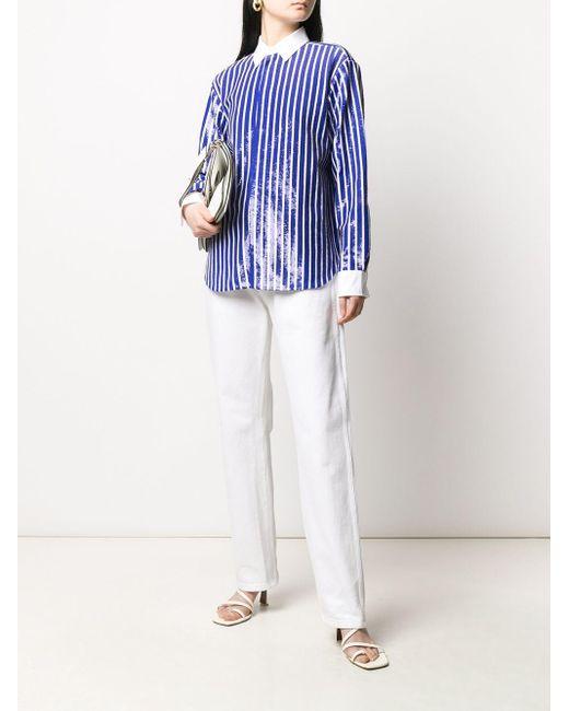 Polo Ralph Lauren スパンコール ストライプショートパンツ Blue
