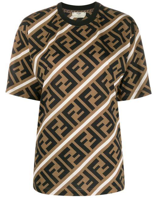Fendi Ff モチーフ Tシャツ Multicolor