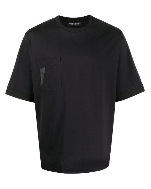 メンズ Neil Barrett パッチ Tシャツ Black