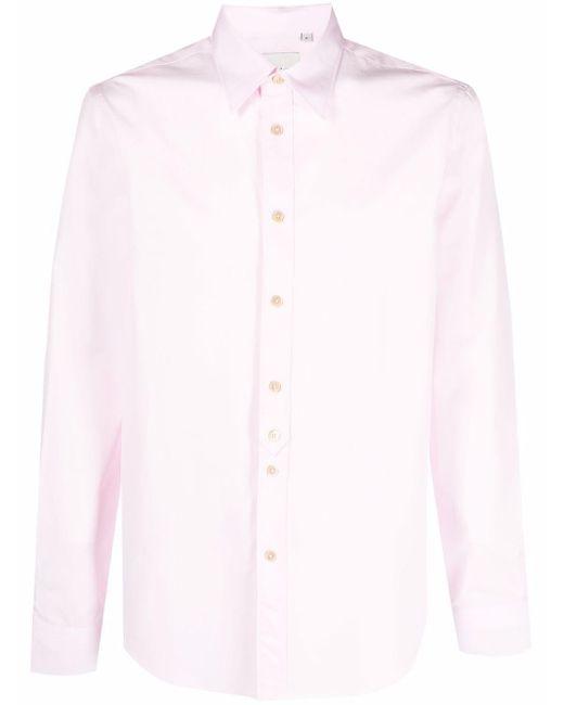 Paul Smith Langärmeliges Hemd in Pink für Herren