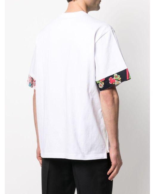 メンズ Sacai コントラストトリム Tシャツ White