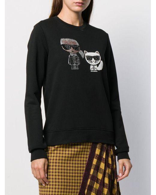 Толстовка Ikonik С Кристаллами Karl Lagerfeld, цвет: Black