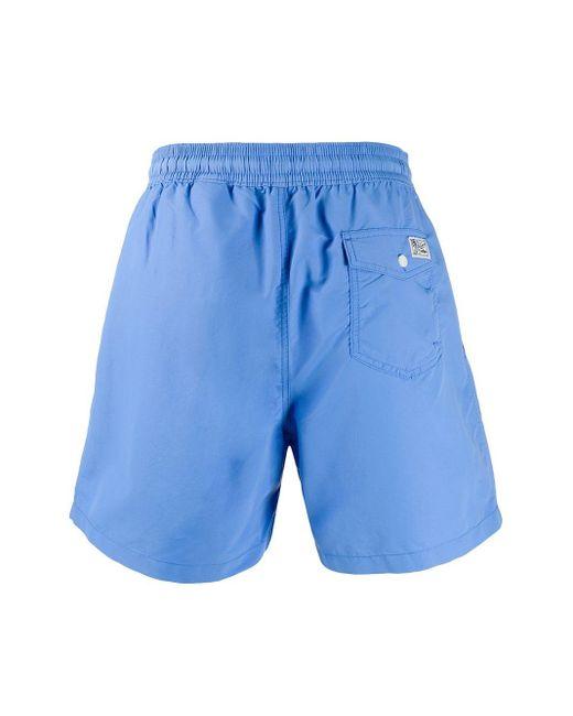 メンズ Polo Ralph Lauren Hawaiian トランクス水着 Blue