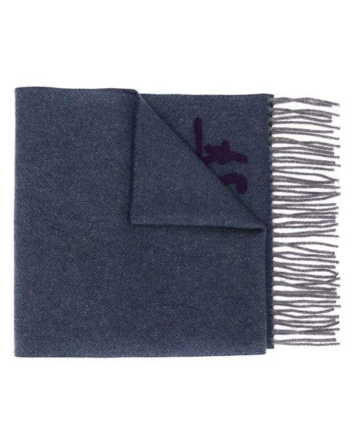 メンズ Ferragamo モノグラム スカーフ Blue