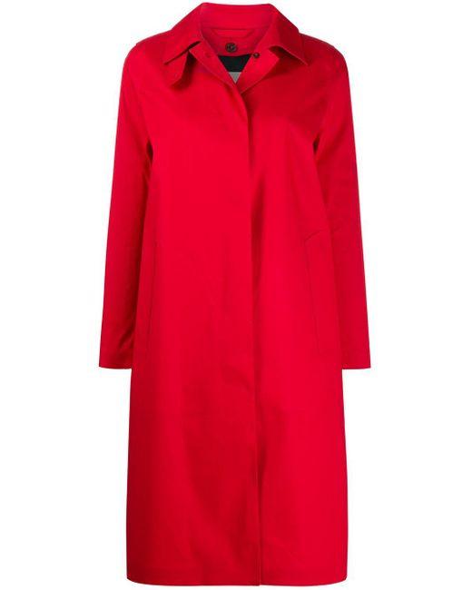 Mackintosh Dunkeld Red Bonded Cotton 3/4 Coat|lr-1001d