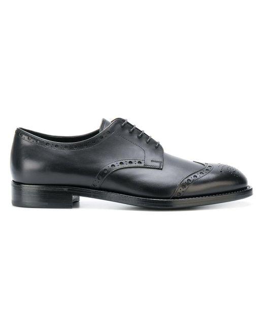 Классические Броги Prada для него, цвет: Black