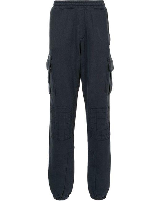 Pantaloni sportivi con stampa di Off-White c/o Virgil Abloh in Blue da Uomo