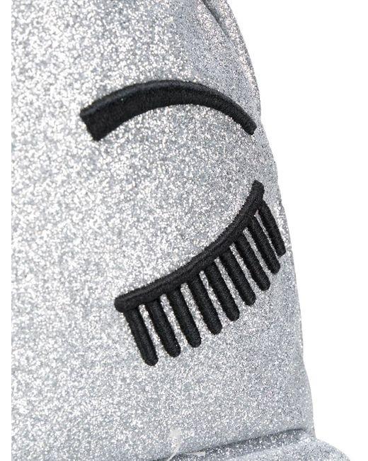 Рюкзак Winking Eye С Блестками Chiara Ferragni, цвет: Metallic