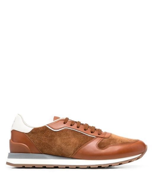 Кроссовки Со Вставками Brunello Cucinelli для него, цвет: Brown