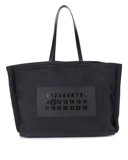 メンズ Maison Margiela ロゴ ハンドバッグ Black