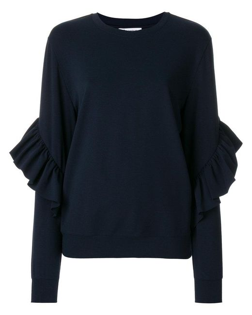 Dondup | Blue Frill-sleeve Knitted Top | Lyst