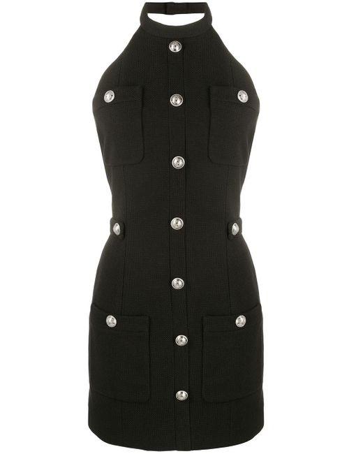 Balmain ボタン ドレス Black