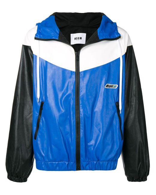 メンズ MSGM カラーブロック ジャケット Blue