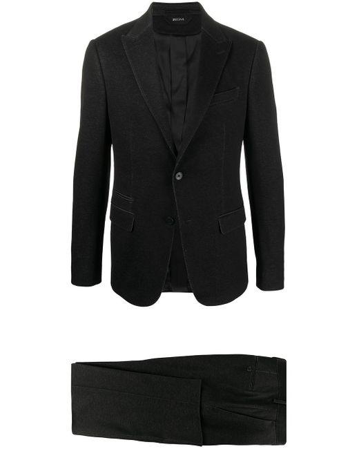 メンズ Z Zegna テクスチャード スーツ Black