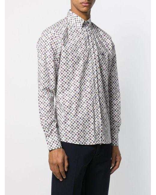 Рубашка С Длинными Рукавами Etro для него, цвет: Multicolor