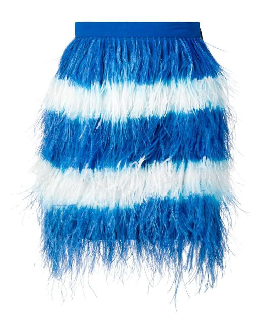 MSGM フェザーミニスカート Blue