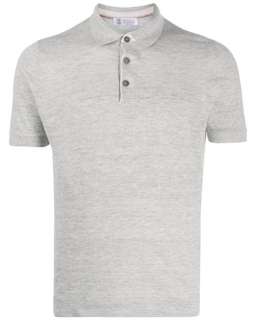 メンズ Brunello Cucinelli ショートスリーブ ポロシャツ Gray