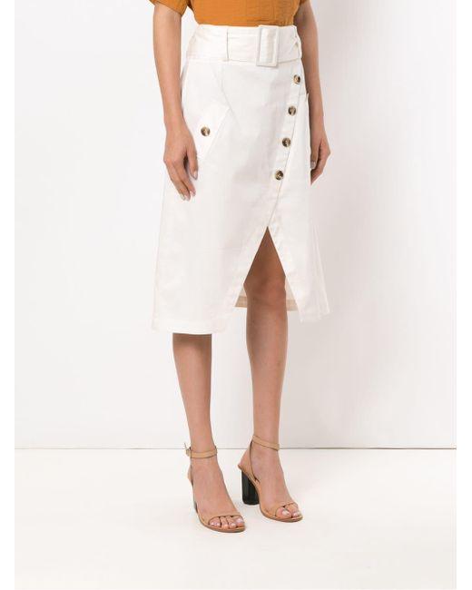 Petri Midi Skirt Olympiah, цвет: White