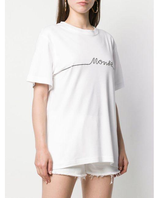 Monse プリントtシャツ White