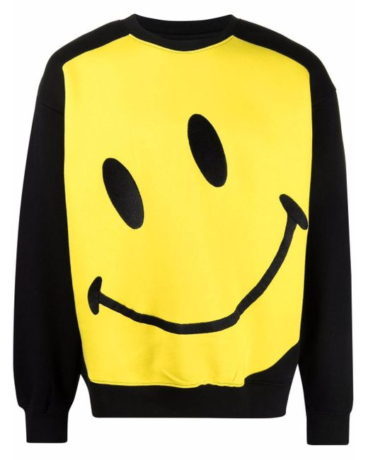 メンズ Chinatown Market Big Smiley プリント スウェットシャツ Black