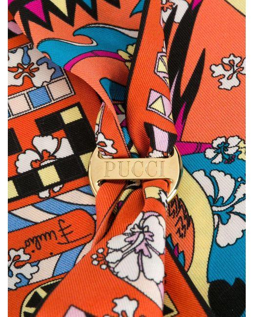 Платок С Принтом Emilio Pucci, цвет: Multicolor