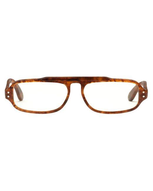 メンズ Gucci スクエア 眼鏡フレーム Brown