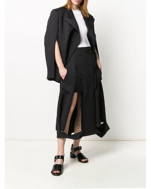 Maison Margiela Aライン スカート Black