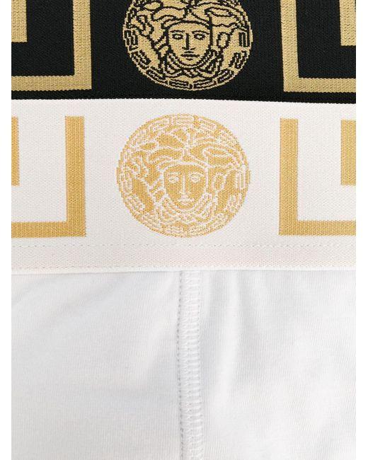 メンズ Versace グレカ ボクサーパンツ セット Black