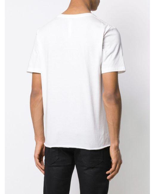 Футболка С Логотипом Saint Laurent для него, цвет: White