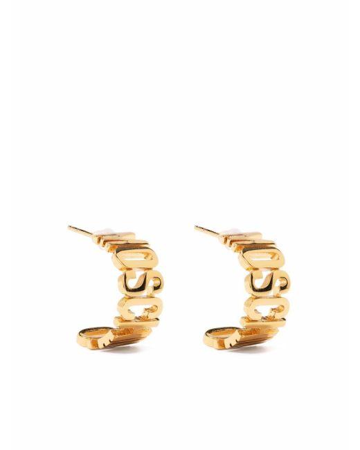 Маленькая Серьга-кольцо С Логотипом Moschino, цвет: Metallic