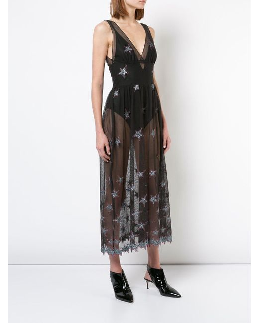 Fleur du Mal Superstar メッシュドレス Black