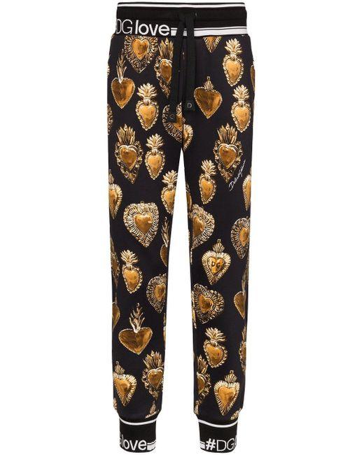 メンズ Dolce & Gabbana プリント パンツ Black