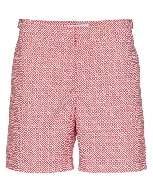 メンズ Orlebar Brown Laurito Swim Shorts Red
