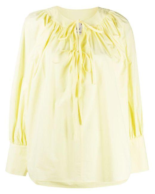 L'Autre Chose リボンフロント ブラウス Yellow