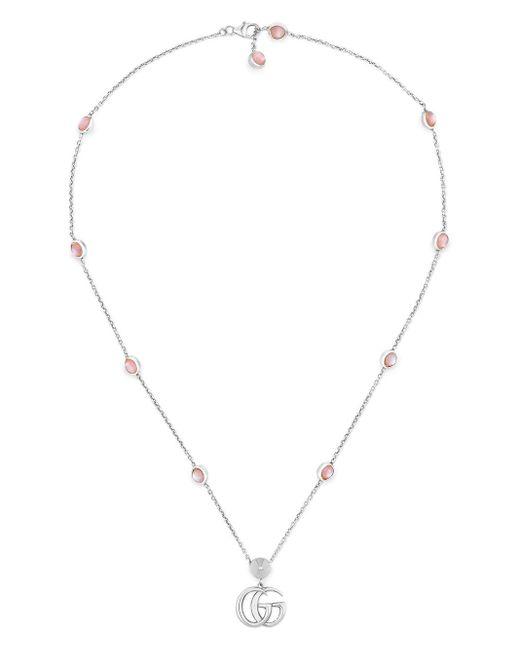 Gucci Metallic Double G Mother Of Pearl Necklace for men