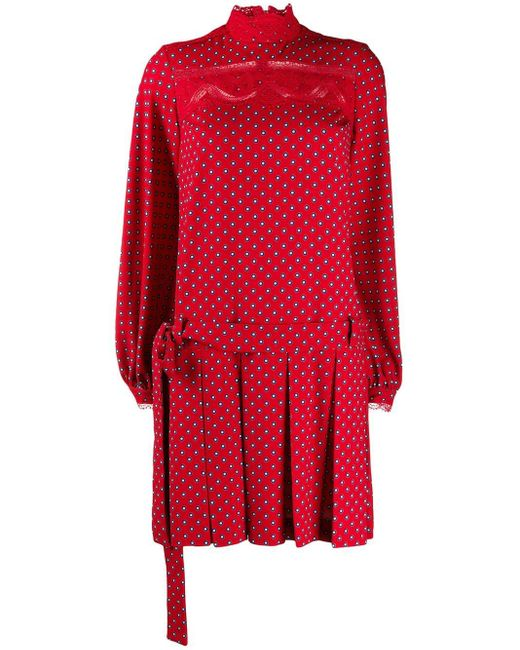 Ermanno Scervino プリント ドレス Red