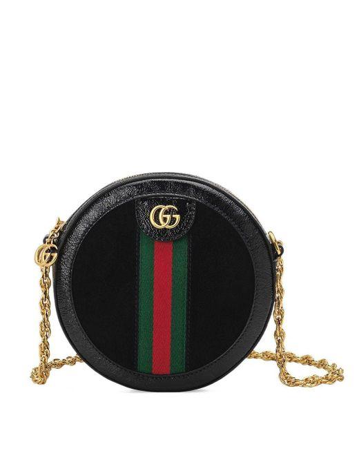 Gucci オフィディア ミニ ラウンド ショルダーバッグ Black
