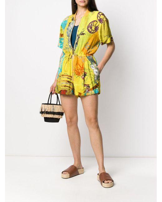 DSquared² クレープジャンプスーツ Yellow