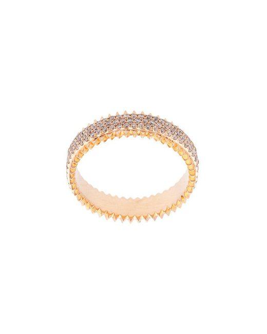 Eva Fehren - Metallic jagged Embellished Ring - Lyst
