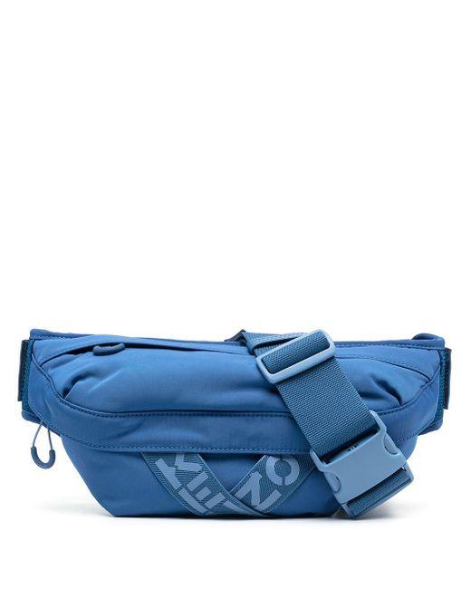 メンズ KENZO ロゴ ベルトバッグ Blue