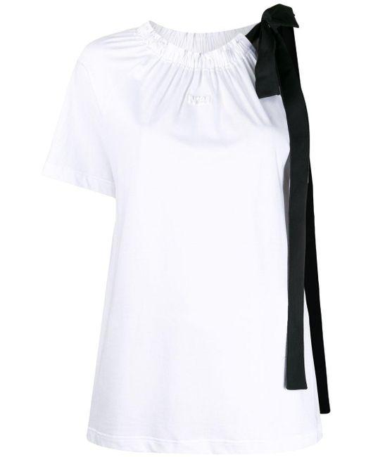 N°21 リボン Tシャツ White